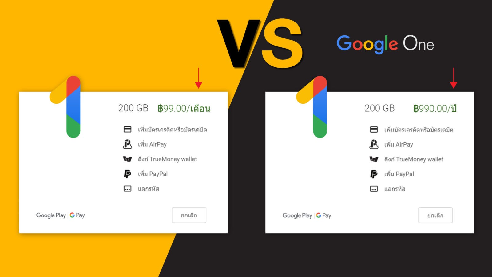 Google One Month Year