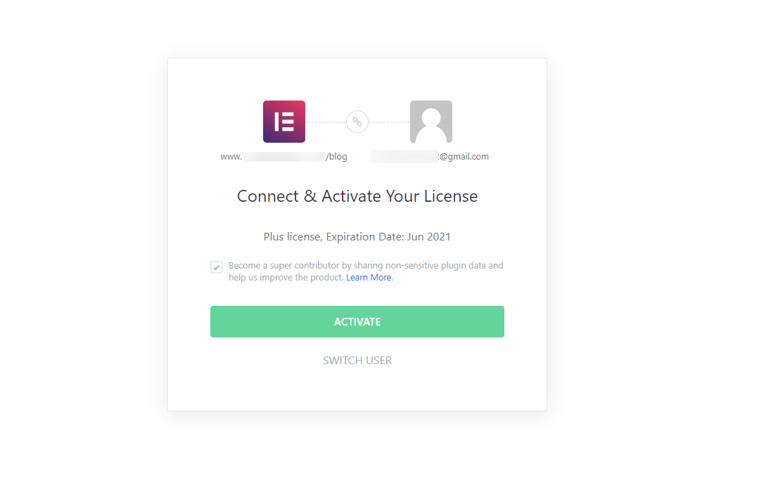 Connect Activate Your License – My Account