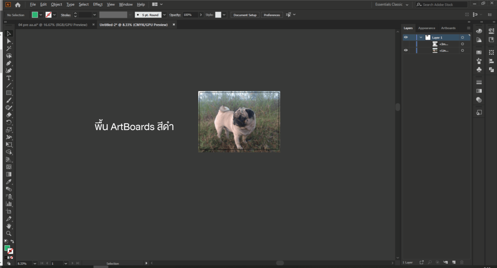 change the color of the artboard in Adobe Illustrator 1