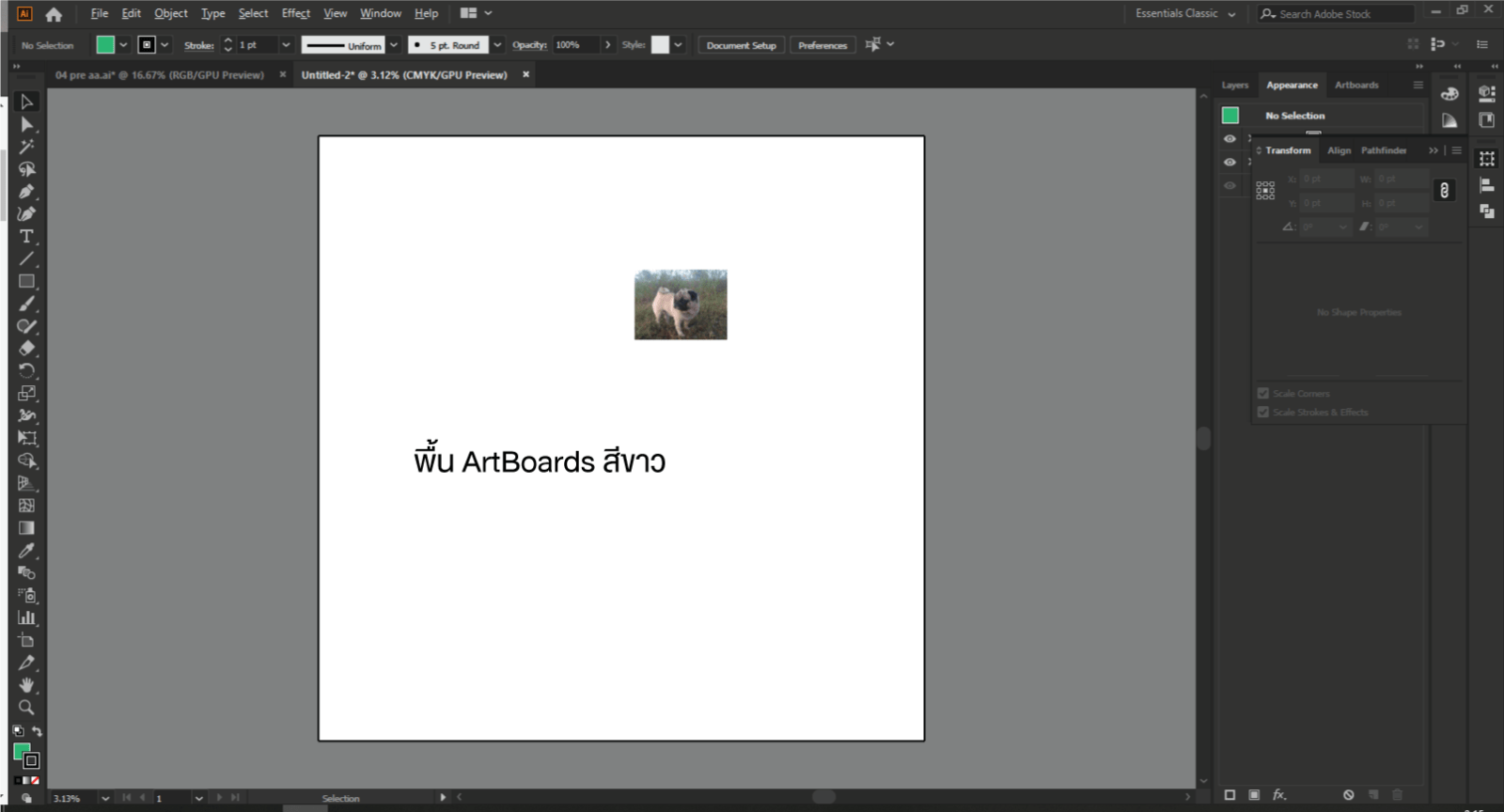 change the color of the artboard in Adobe Illustrator 2
