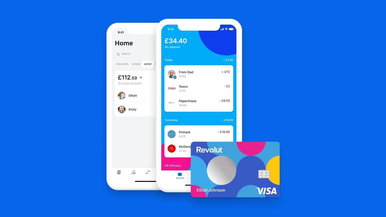 Revolut Digital Banking App Card with Crypto