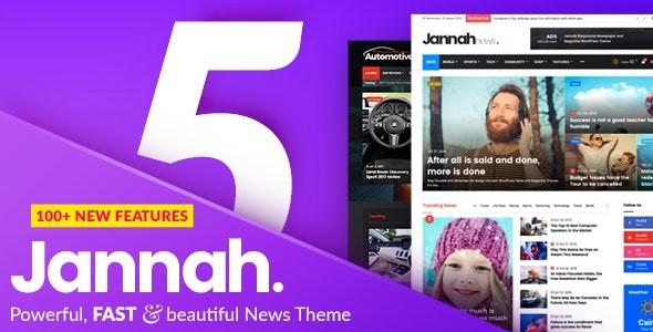 Jannah 5.0.1 Nulled Newspaper Magazine News BuddyPress AMP