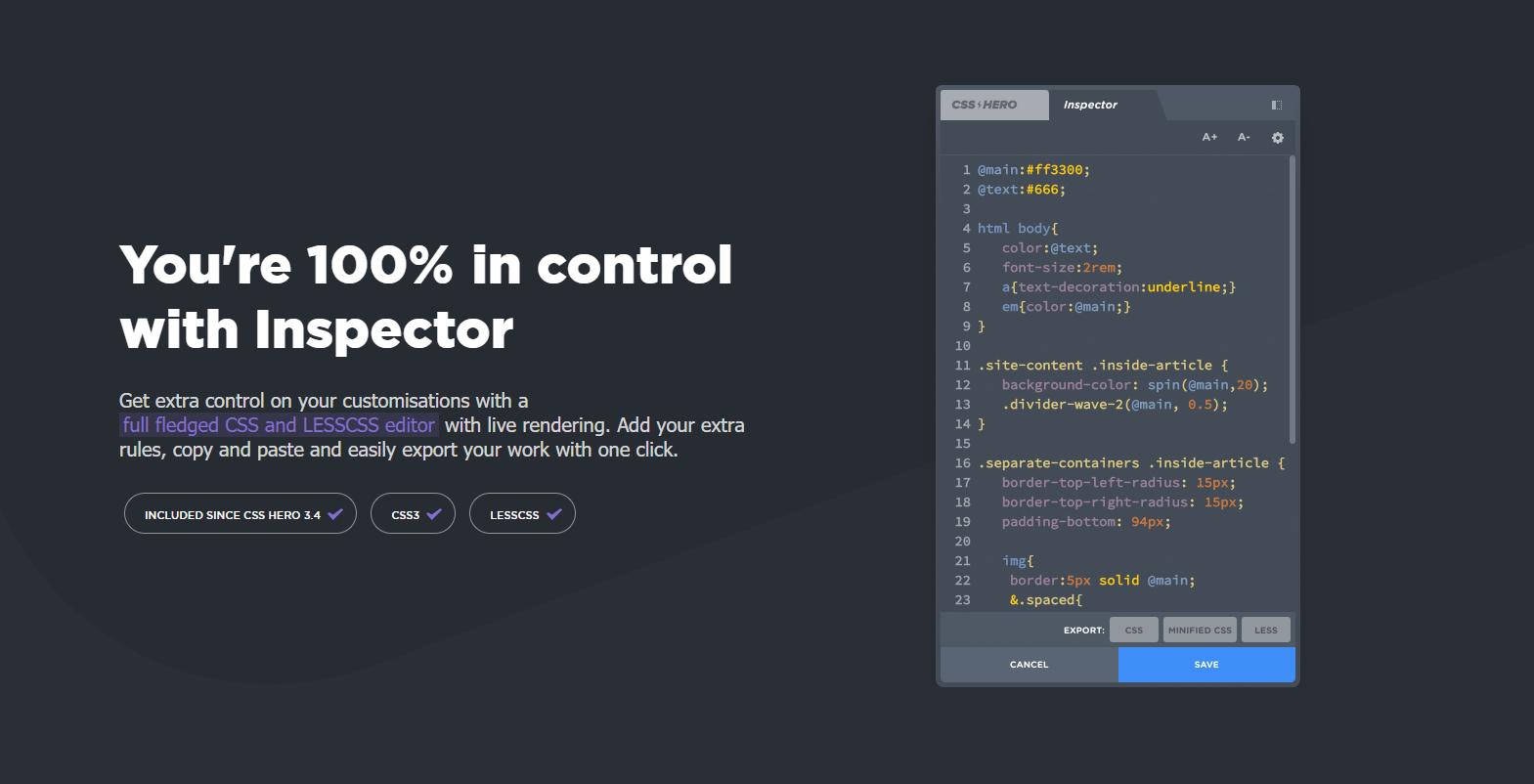 CSS HERO No Code
