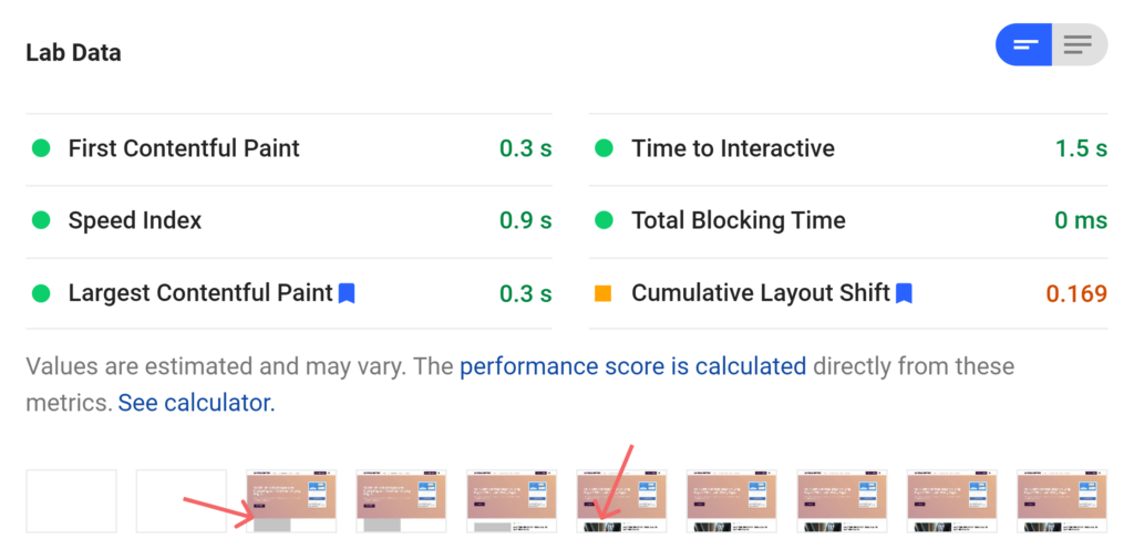 litespeed cache cls Optimize for Core Web Vitals